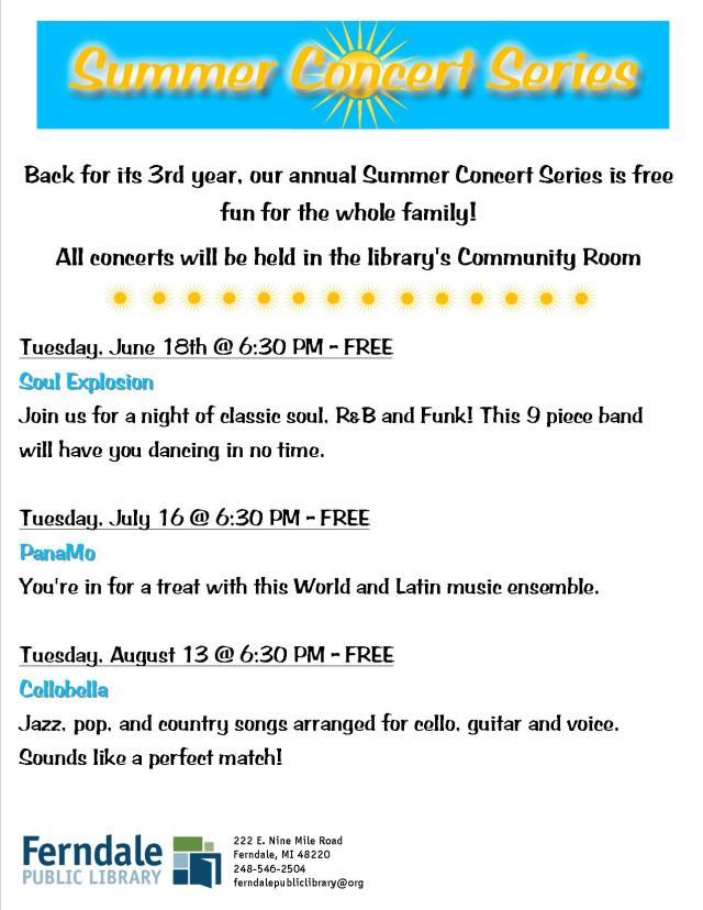 Summer Concert Series 2013