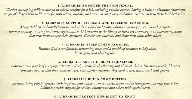 Declaration of the Right to Libraries