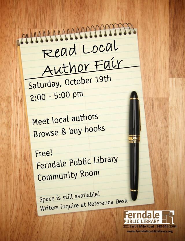 Local Author Fair Flyer