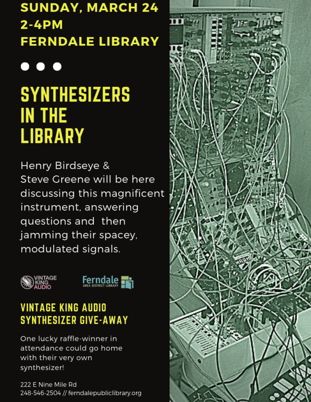 Synthesizers In The Library March 24 final